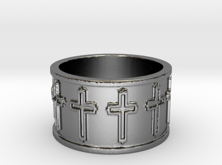 14 Cross Ring Solid V1 Ring Size 7.75 3d printed