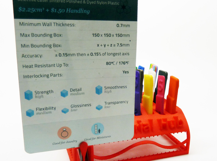 The Wave Hub - Material Sample Stand 3d printed It also incorporates an Individual Card Holder for Use When Working