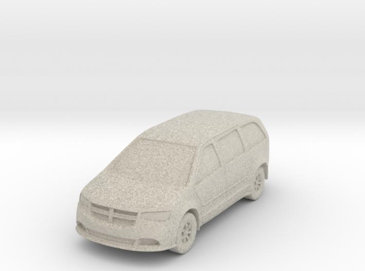 "Minivan at 1""=8' Scale 3d printed"
