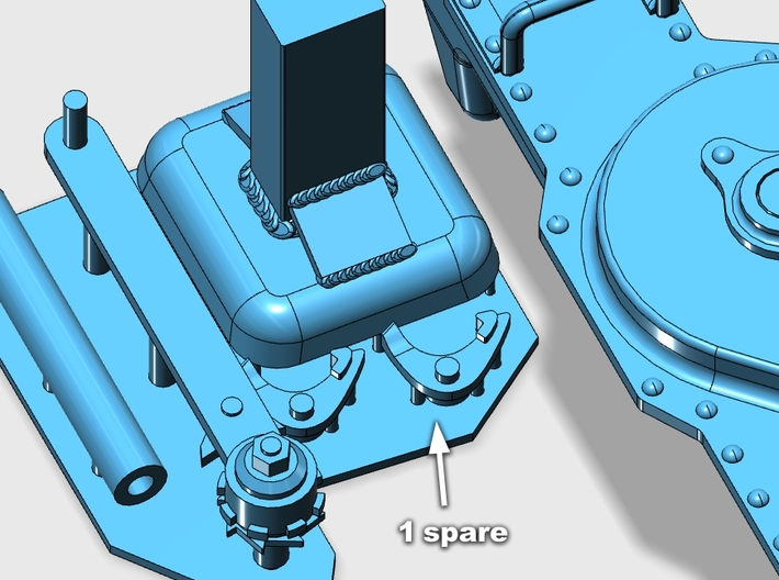 1:16 German ww2 20 ton jack 3d printed