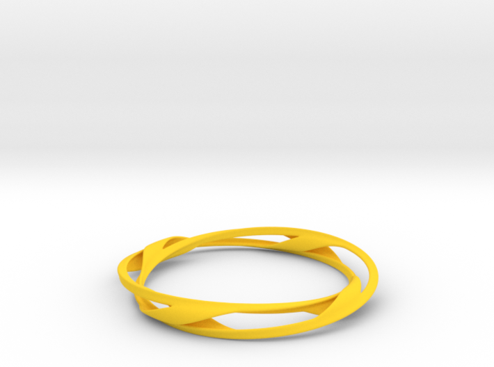 Barred Twist Bangle 3d printed