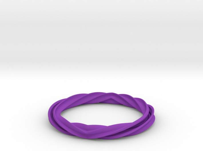 Twist and Flip Bangle 3d printed