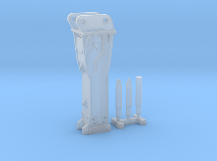 1:50 Hammer for 20Ton excavators 3d printed