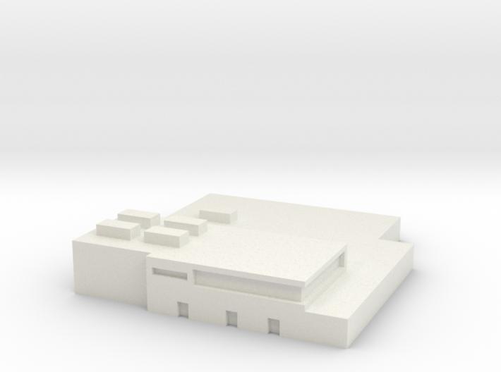 Papa Air Base Terminal 1:1200 & 1:400 Scale 3d printed