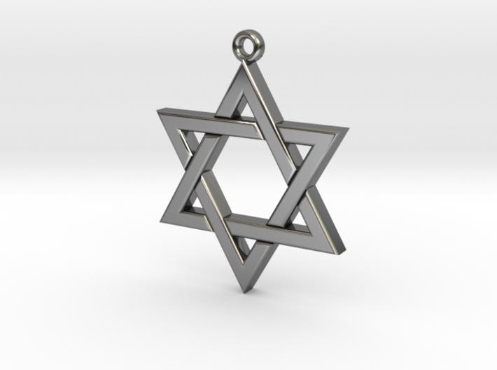 Star of David small 3d printed