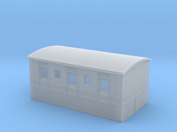 Culm Valley 3rd carriage with roof 3d printed