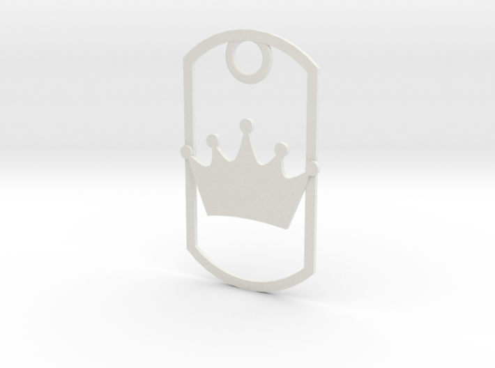 Crown dog tag 3d printed