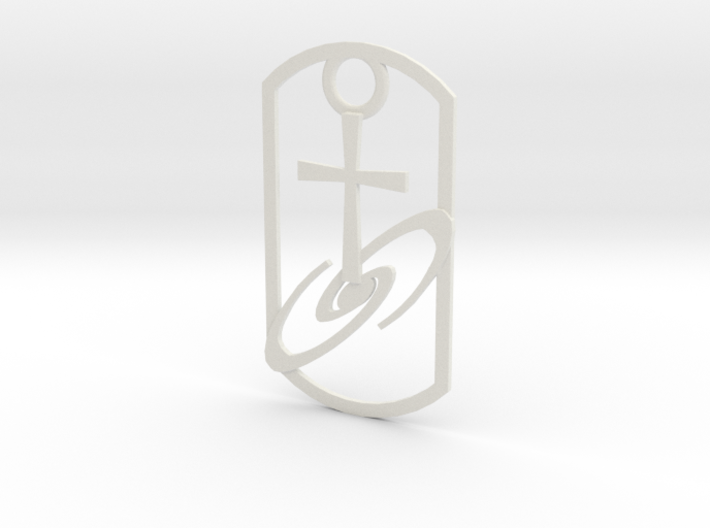Dogtag-cross-galaxy2 3d printed
