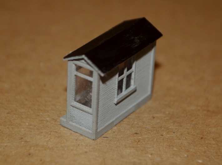 N-Scale Scale Shack 3d printed Painted Production Sample - Rear