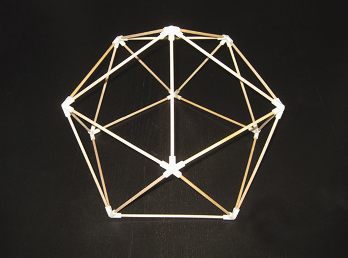 Icosahedron (v1) Dome Joints 3d printed