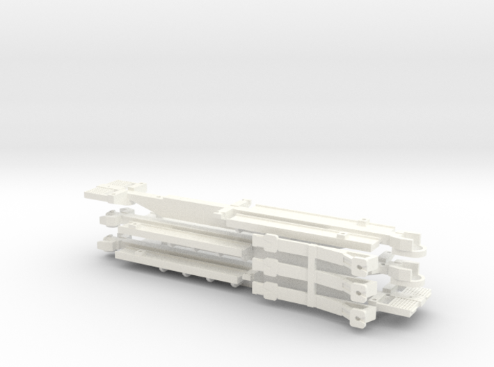 Z Scale Spline Car (Type 2) - 3 Car Set 3d printed