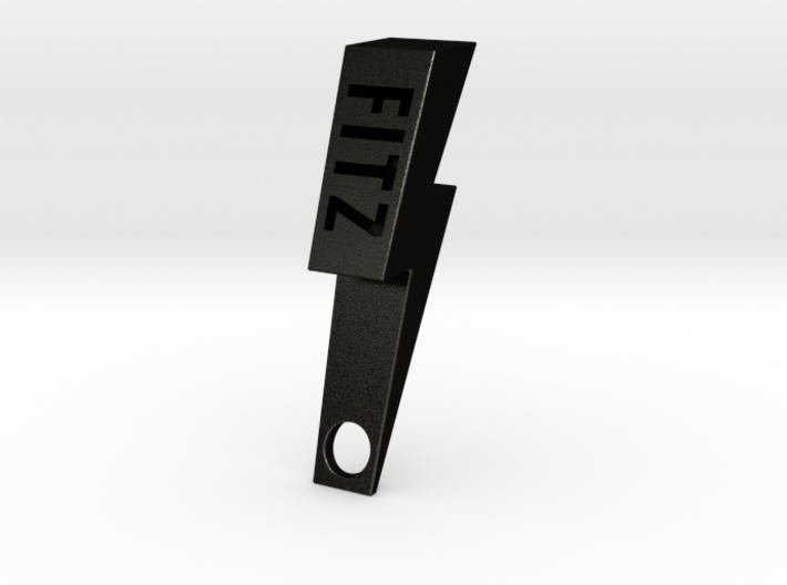 Personalize-able Lightning Bolt Bottle Opener 3d printed