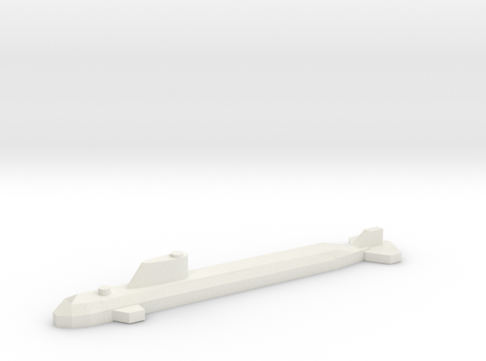Nuclear Attack Submarine, SSN. 3d printed