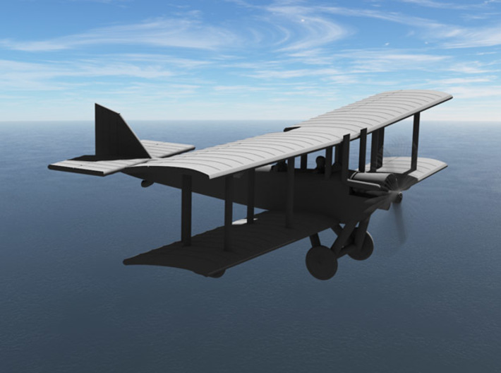 Airco D.H.6 (early version, various scales) 3d printed Computer render of 1:144 Airco DH6
