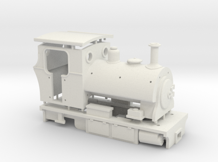 009 Peckett Style Tram Engine  3d printed