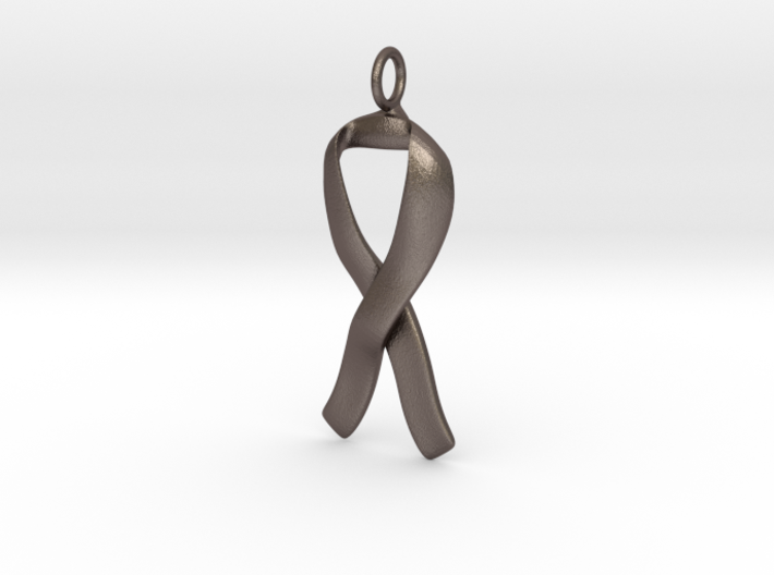 Ribbon Pendant Solid 3d printed