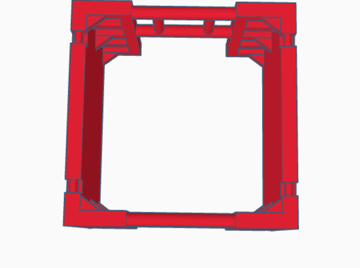 1:64 Manhole Trench box 3d printed Rendering of the assembled trench box.