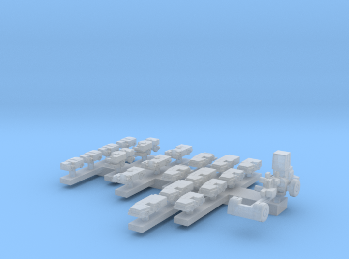 1:720 Mid 80s-Mid 90s US Carrier Deck Vehicles 3d printed