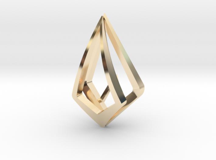 """Hidden Heart"" no014 pendant 3d printed"