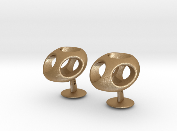 TriCufflinks 3d printed