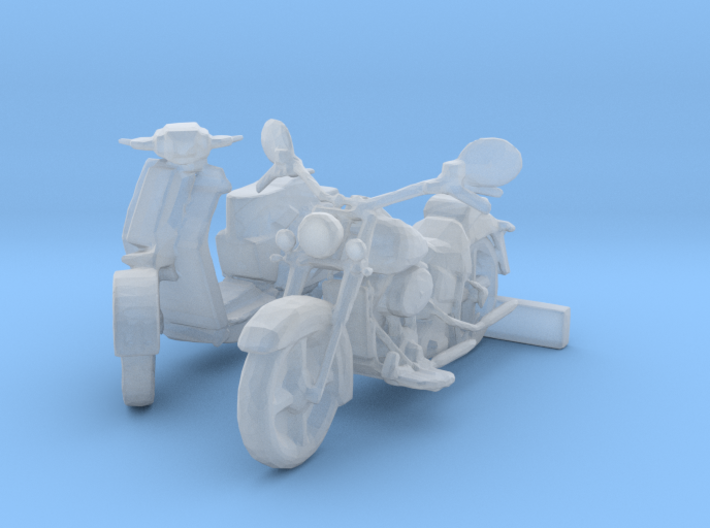 S Scale Motorcycle & Scooter 3d printed This is a render not a picture
