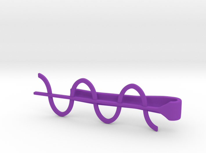 Cosine Wave Tie Bar (Plastics) 3d printed