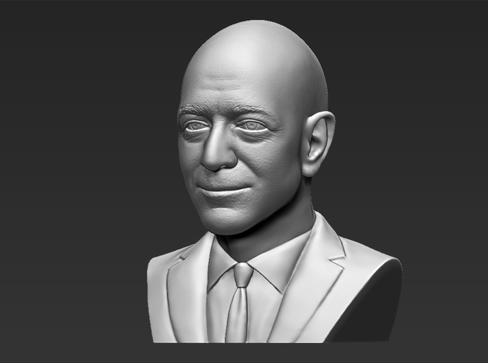 Jeff Bezos bust 3d printed