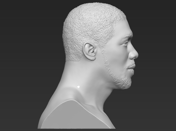 Anthony Joshua bust 3d printed