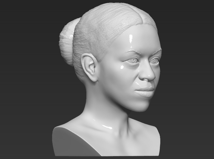 Michelle Obama bust 3d printed