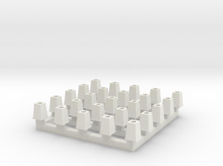 Streetlight Base HO scale x25 3d printed