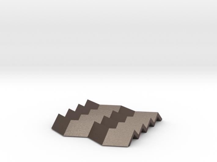 Concertina zig-zag coaster/heatproof mat/soap dish 3d printed
