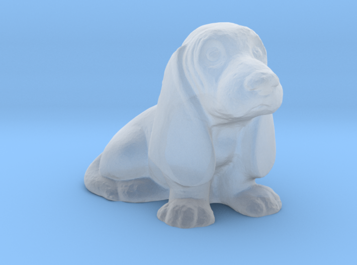 O Scale Basset Hound 3d printed This is a render not a picture