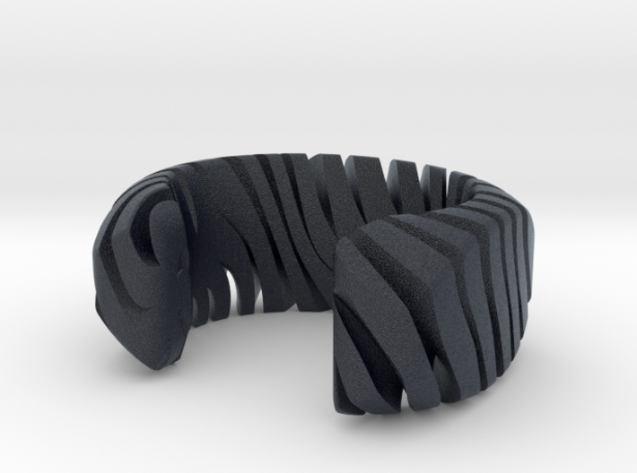 PILLOW CARVED TIGER CUFF MEDIUM 3d printed