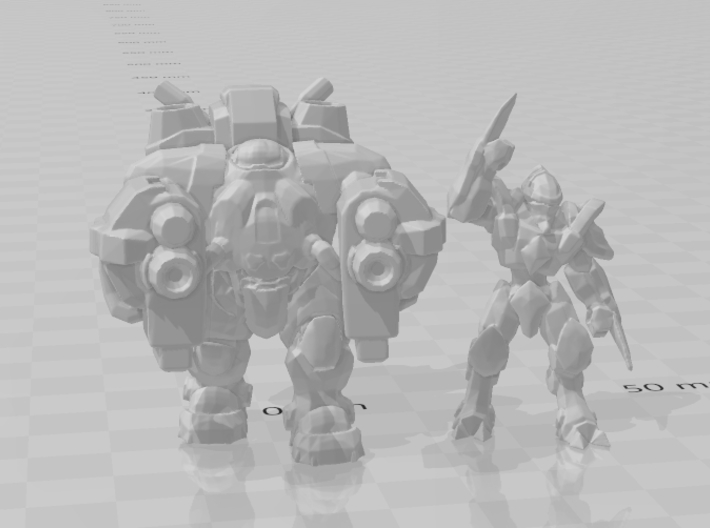 Starcraft Zealot miniature games rpg scifi DnD 3d printed