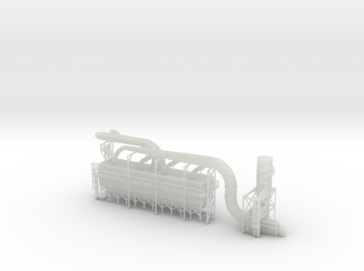 Industrial Dust Collection N Scale 3d printed