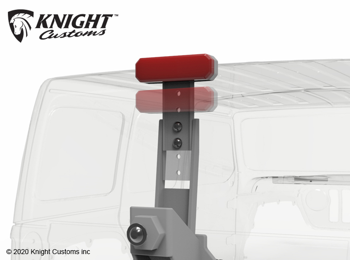 KCJL1016 JL Tire Carrier w light 3d printed Rear light is adjustable for different sized tires.