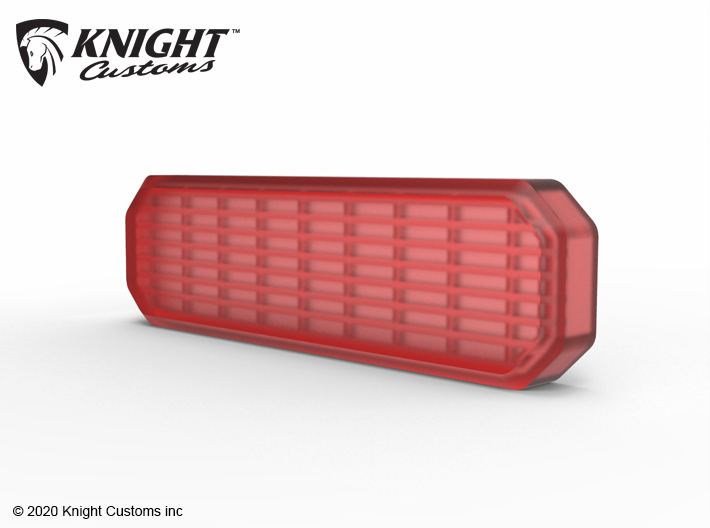 KCJL1017 JL Tire Carrier light lens 3d printed Part shown painted with clear red.
