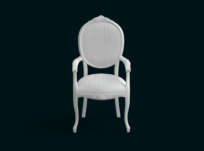 1:10 Scale Model - ArmChair 07 3d printed