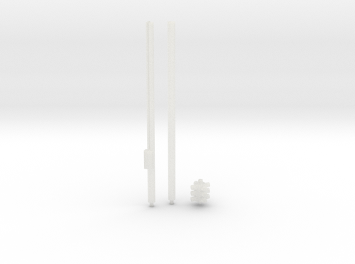 HO-Scale Single Point 8-Inch Traffic Signal 3d printed
