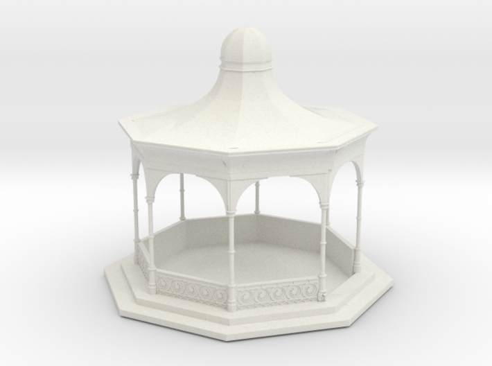O Scale Bandstand 3d printed This is a render not a picture