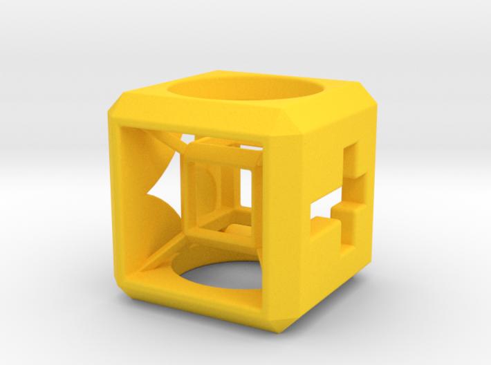SCULPTURE Small HyperCube Base for 33mm 3d-Cross 3d printed