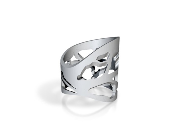 Leaf cut out ring 3d printed