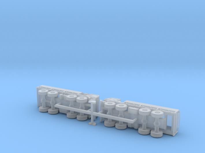 Ural 5323-21 8x8 Heavy Truck 1/160 3d printed