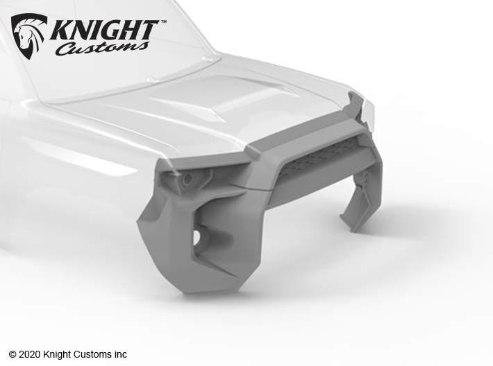 KCTR1007 4Runner Gen5 Grill center delete 3d printed Shown painted gray but comes printed in White Natural versatile plastic.