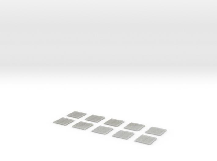 SCIFI Corridor Floor Grill X10 3d printed