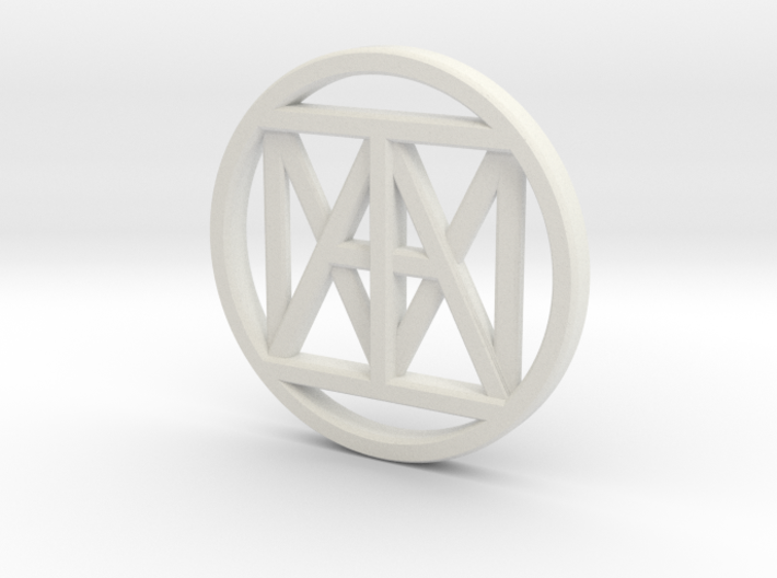 United I AM 30mm Coin 3d printed