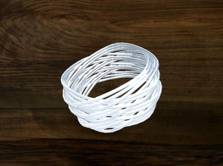 Turk's Head Knot Ring 6 Part X 3 Bight - Size 16.2 3d printed
