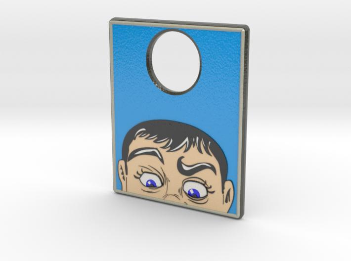 Pinball Plunger Plate - Fun House - mirrored 3d printed