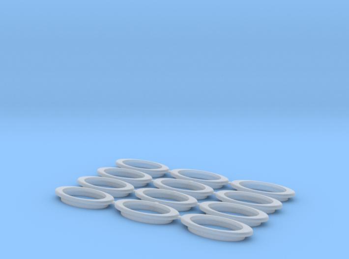 Oval Porthole Array 3d printed