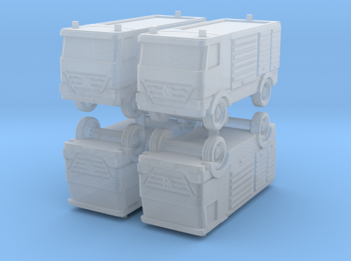 Mercedes Actros Fire Truck (x4) 1/500 3d printed
